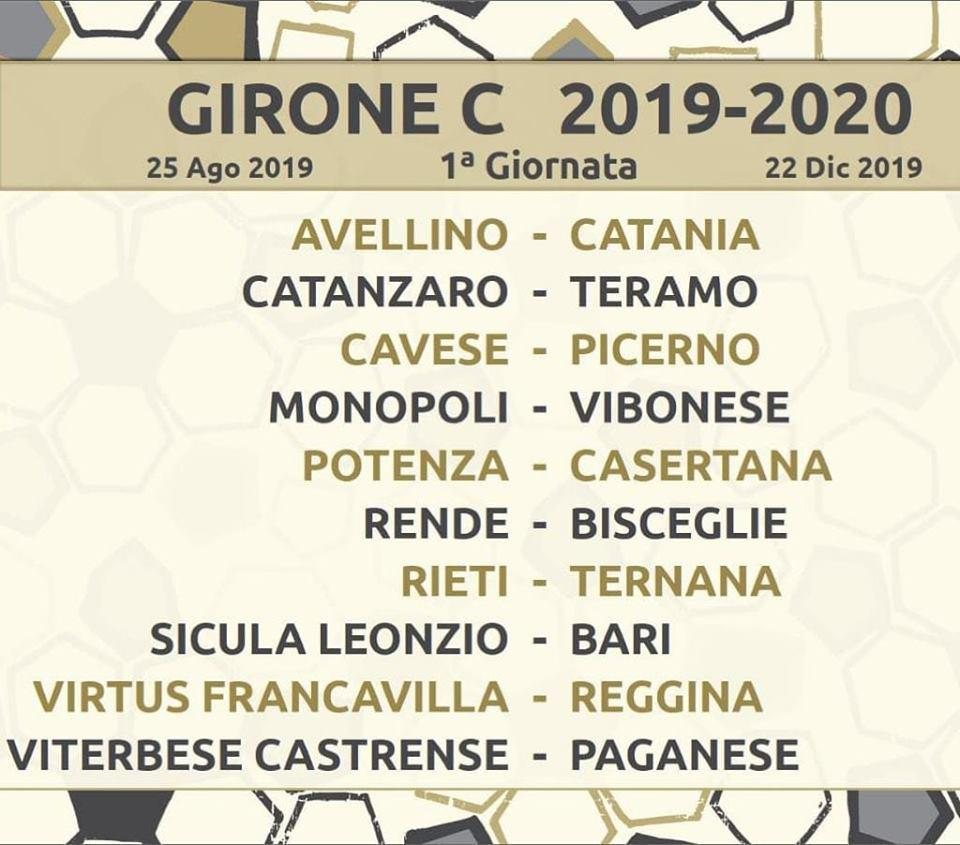 Calendario Reggina 2020.Virtus Francavilla Calendario Esordio In Casa Con La Reggina