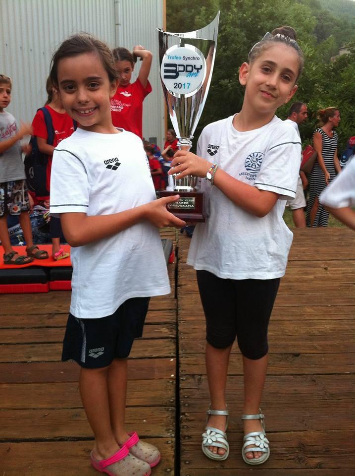 Nuoto sincro: Mediterraneo Sport in luce a Bagno di Romagna