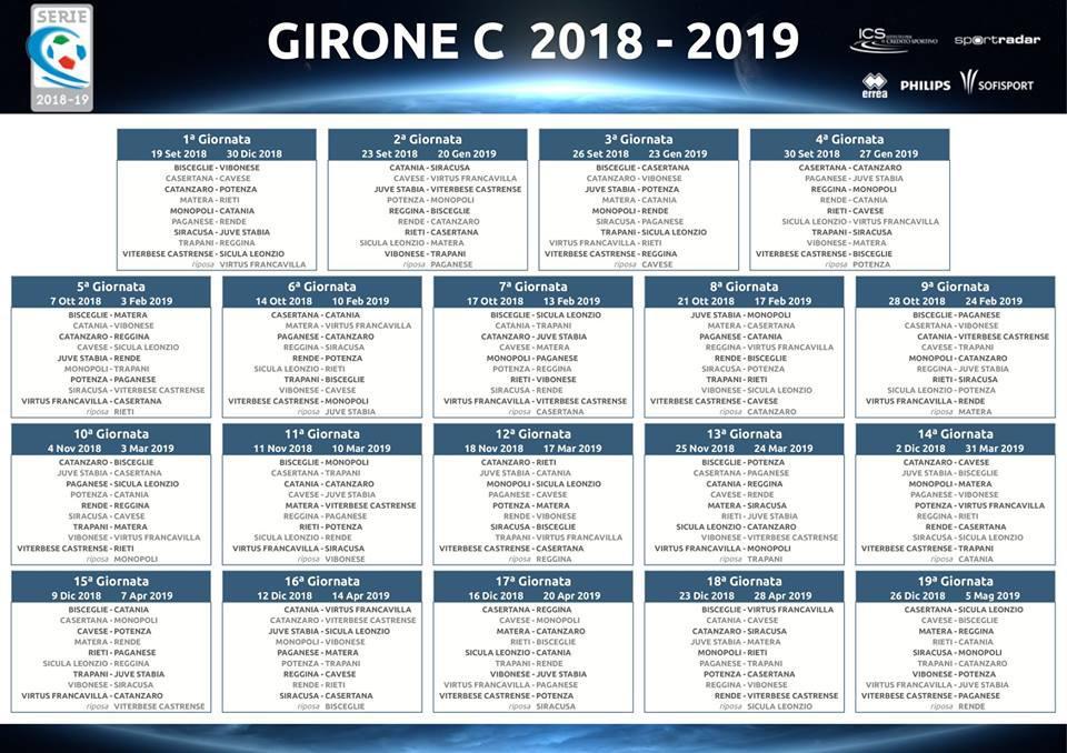 Calendario Juve Stabia.Serie C Il Calendario Del Girone C