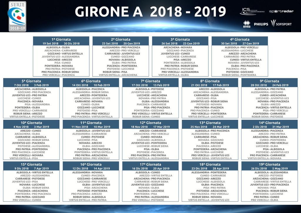 Pisa Calendario.Serie C Il Calendario Del Girone A