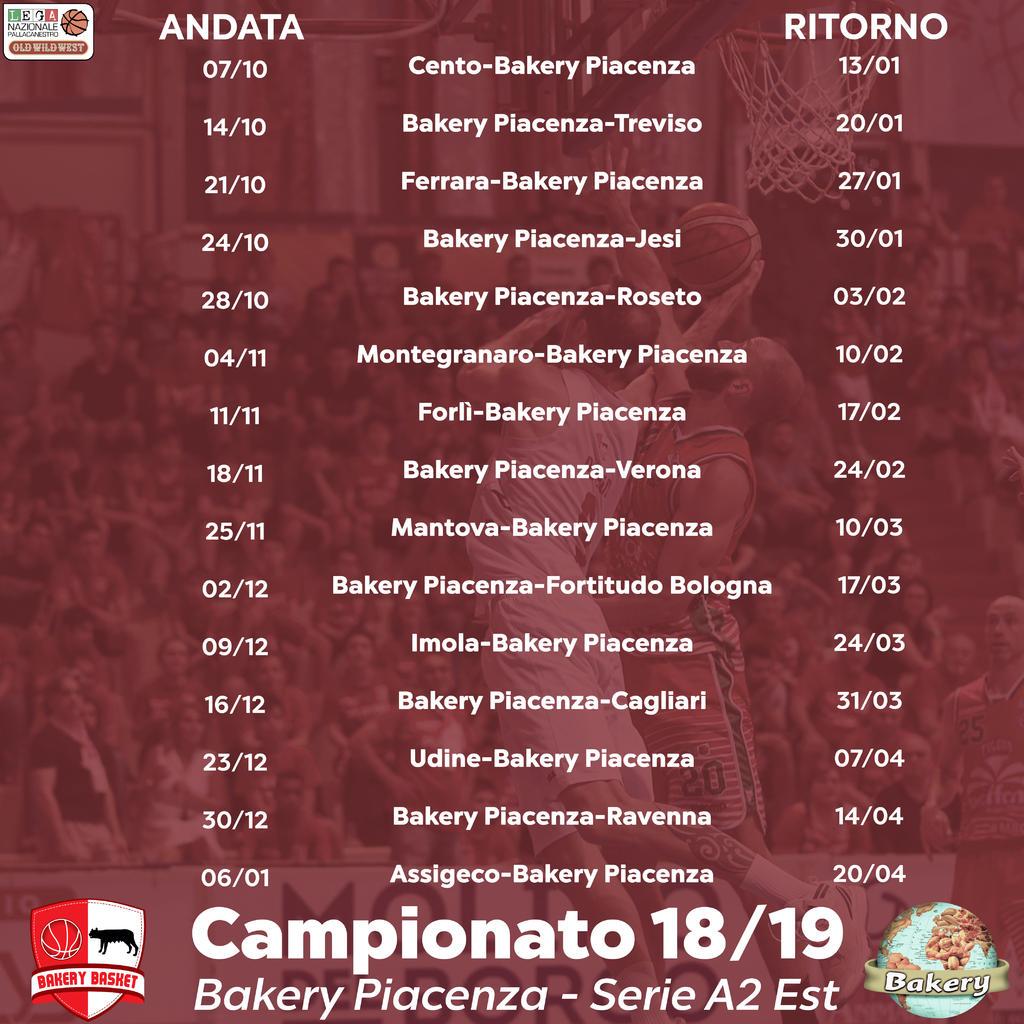 Calendario Fortitudo 2020.Calendario Serie A2 Old Wild West 2018 2019