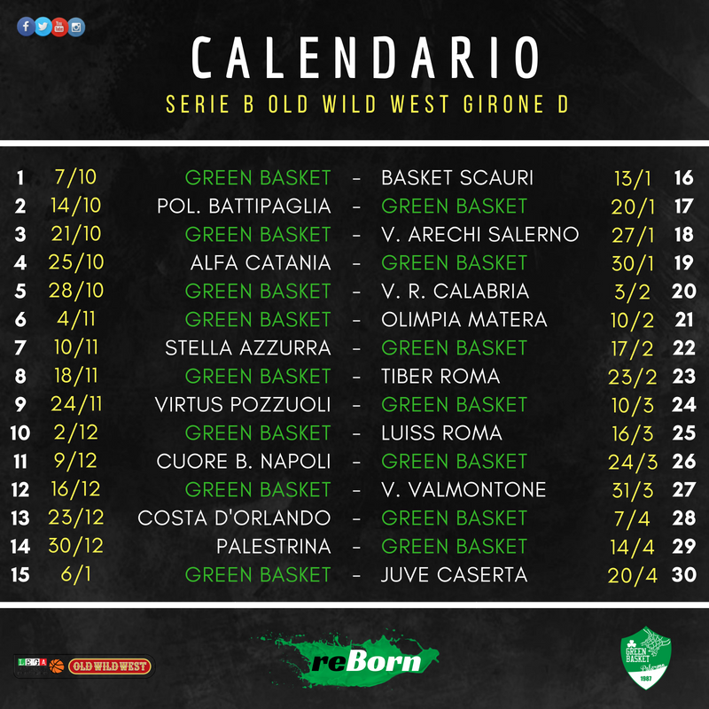 Calendario Lega Pro B.Serie B Old Wild West 2018 19 Ecco Il Calendario