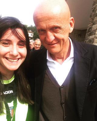 Immagine presa dal suo profilo Facebook, Cristiana con Collina
