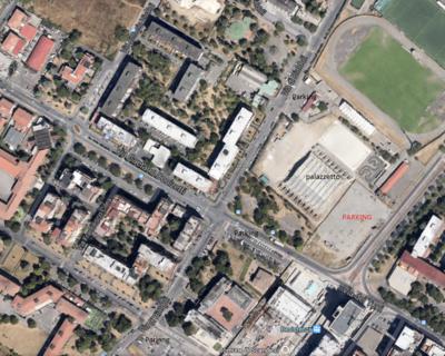La mappa di dove parcheggiare la macchina per l'anticipo Savino Del Bene – Liu Jo Modena