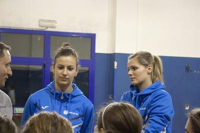 Il nostro coach e le nostre ragazze in visita al minivolley V.P. Città di Scandicci