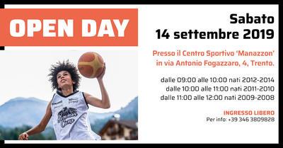 """Sabato 14 """"Open Day"""" per i nati dal 2008 al 2014"""