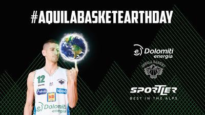 Dolomiti Energia Trentino organizza l'Aquila Basket Earth Day