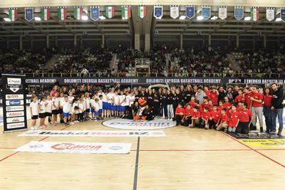 Olimpia e Basket Rosa Bolzano, affiliati Academy protagonisti durante il match contro Milano