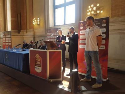 Lech e Buscaglia a Brescia per la presentazione della Supercoppa