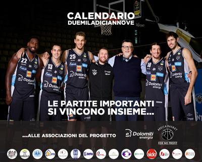 Un anno di Dolomiti Energia Trentino con il calendario 2019 dedicato alle 15 associazioni del progetto No Profit