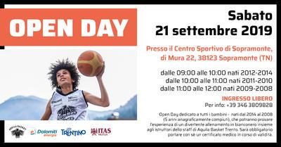 Per i nati dal 2008 al 2014 altro Open Day, a Sopramonte