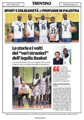"""Basketball: A world in a word"" raccontato dal giornale ""Trentino"""
