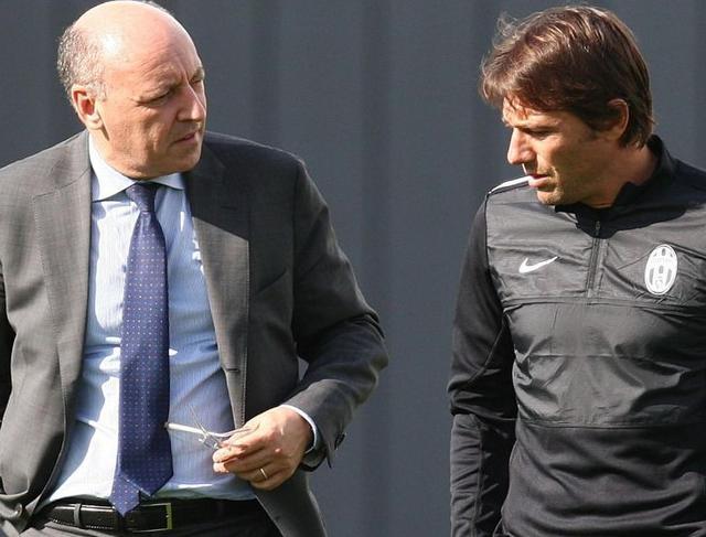 Il dg Marotta e il tecnico Conte, foto: Fonte Web