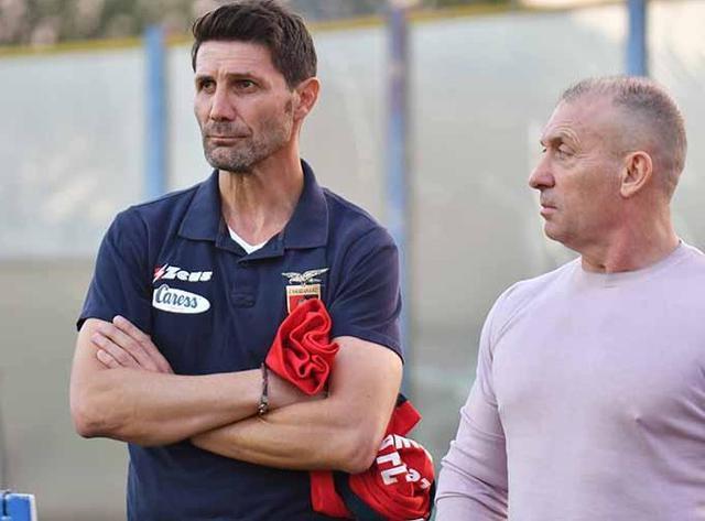 Il tecnico Fontana e il presidente D'Agostino, foto: Giuseppe Scialla