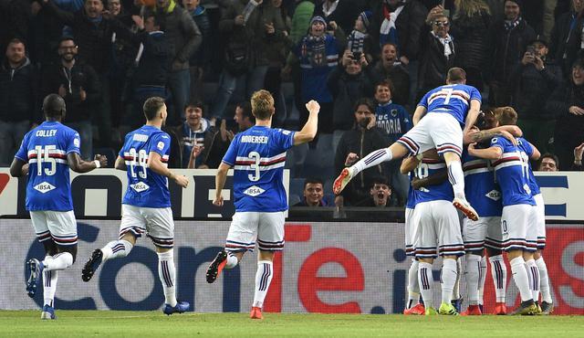 L'esultanza della Sampdoria, foto. Fonte Web