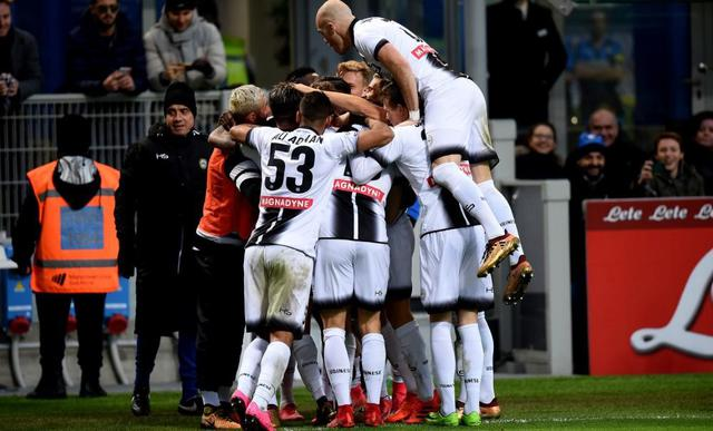 L'esultanza dell'Udinese, foto: Fonte Web