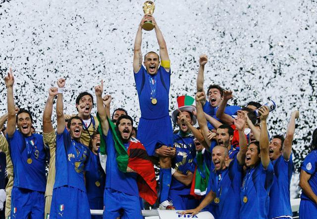 L'Italia campione del Mondo nel 2006, foto: Fonte Web