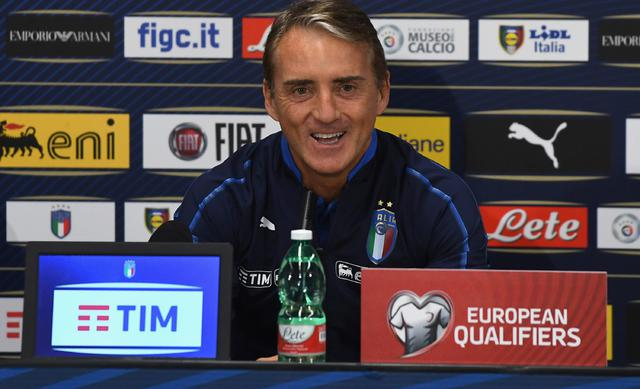 Il ct Roberto Mancini in conferenza stampa, foto: Figc.it