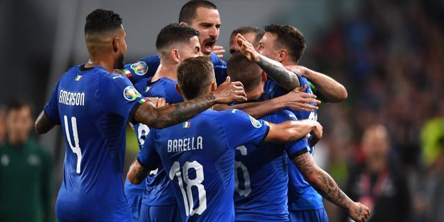 L'esultanza degli azzurri, FOTO: CLAUDIO VILLA-FIGC.IT