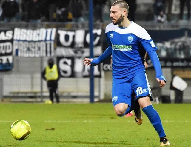L'attaccante Gaetano Dammacco, foto: Sandro Veglia
