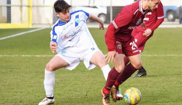 L'attaccante Matteo Ahmetaj, foto: Sandro Veglia