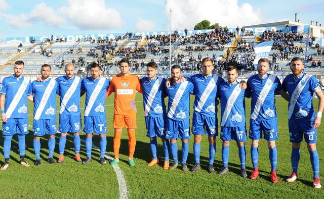 L'undici biancoazzurro anti Viterbese, foto: Sandro Veglia