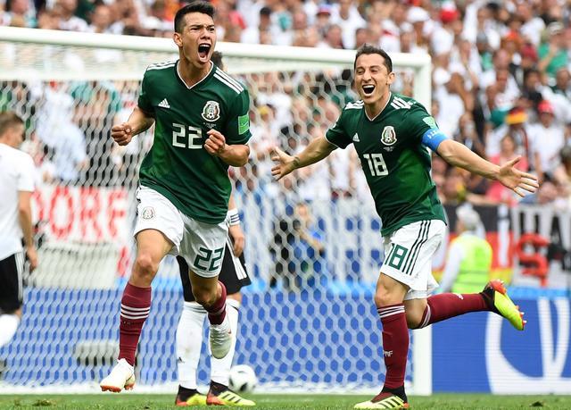 L'esultanza del Messico, foto: Fonte Web