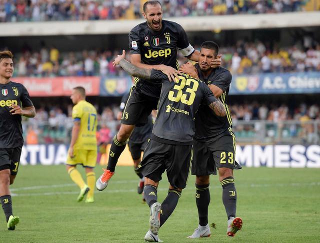 L'esultanza dei bianconeri dopo il vantaggio, foto: Fonte Web