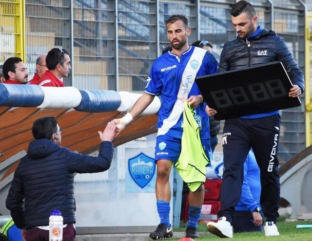 L'attaccante Fabio Orlando, foto: Sandro Veglia