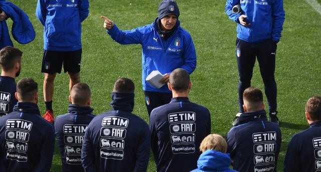 Una fase dell'allenamento degli azzurri, foto: Figc.it
