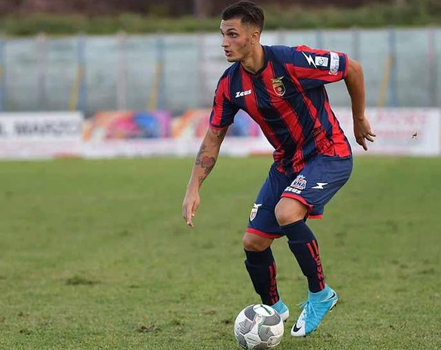 L'esterno offensivo Marco Ferrara, foto: Giuseppe Scialla