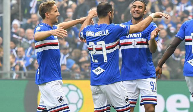 L'esultanza della Sampdoria, foto: Fonte Web