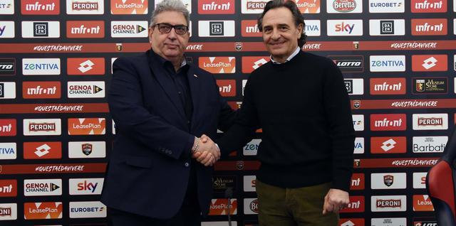 Il dg Perinetti e il tecnico Prandelli, foto: Fonte Web