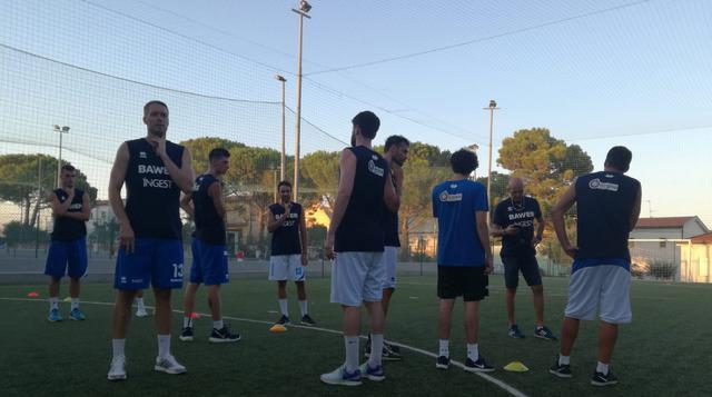 L'allenamento dell'Olimpia Matera, FOTO: FONTE WEB