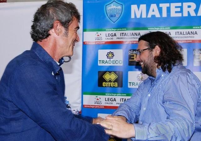 Il tecnico Auteri e il patron Columella, foto: Sandro Veglia