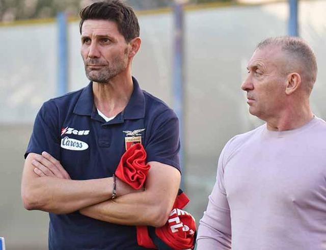 Il tecnico Fontana e il presidente D'Agostino, foto: Fonte Web
