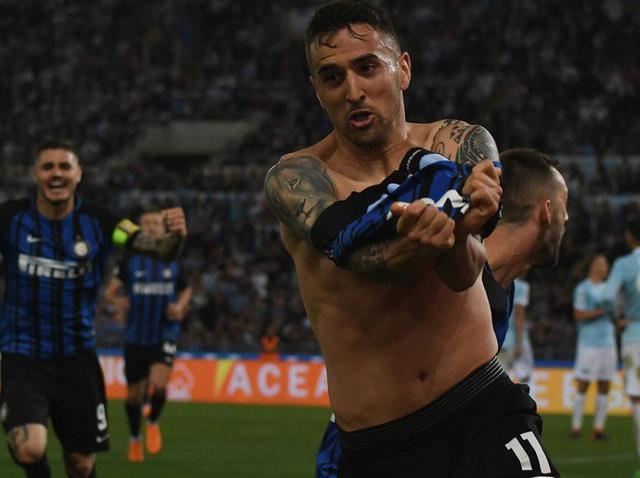 L'esultanza di Vecino dopo la rete, foto: Inter.it