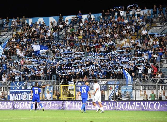 I tifosi biancoazzurri in Gradinata, foto: Sandro Veglia