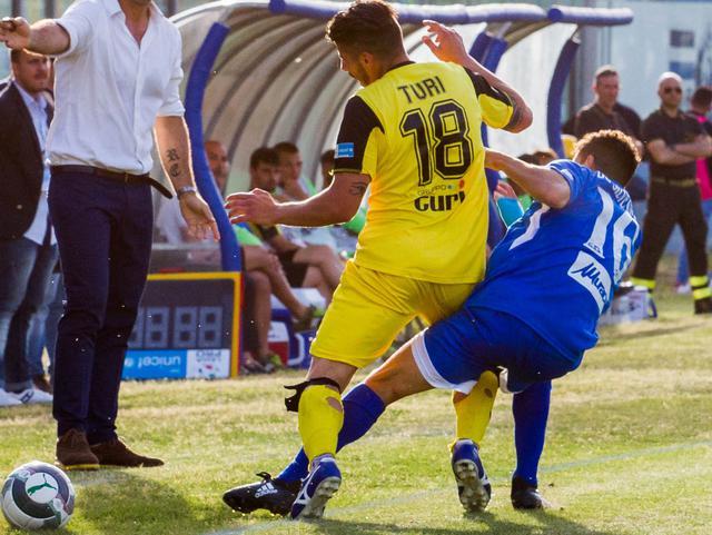 Il centrocampista Pasquale Turi in azione, foto: Fonte Web