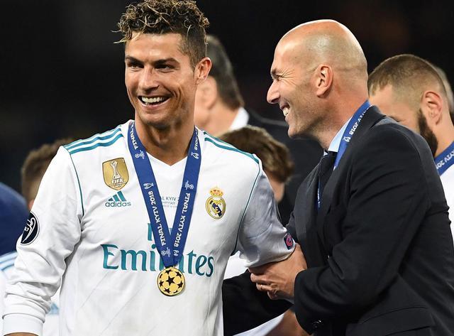 Cristiano Ronaldo e il tecnico Zidane, foto: Uefa.com