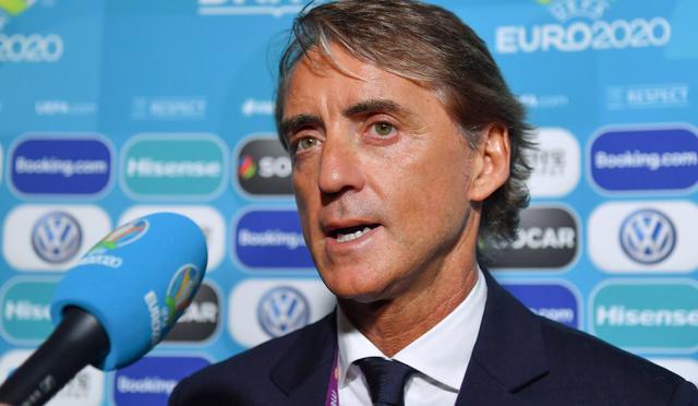 Il ct Roberto Mancini nel post sorteggio, foto: Figc.it