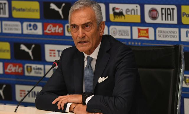 Il presidente Gabriele Gravina della Figc, foto: Fonte Web