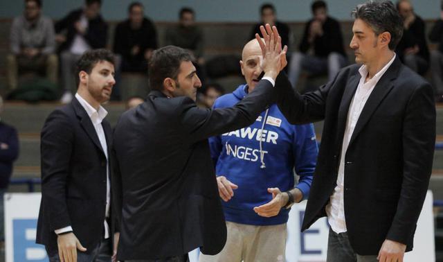 L'esultanza del coach Agostino Origlio, foto: Fonte Web