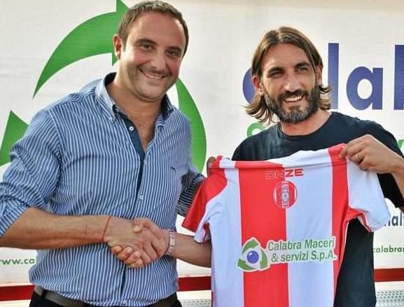 Il presidente Coscarella con il neo tecnico Modesto, foto: Fonte Web