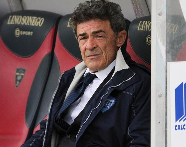 Il tecnico dei biancoazzurri Gaetano Auteri, foto: Giuseppe Scialla