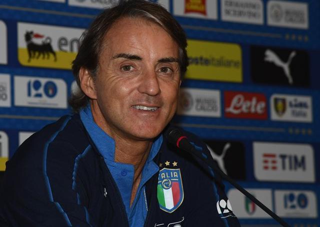 Il ct Roberto Mancini in conferenza stampa, foto: Figc.it