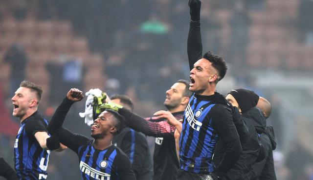 L'esultanza finale dell'Inter, foto: SportMediaset.it