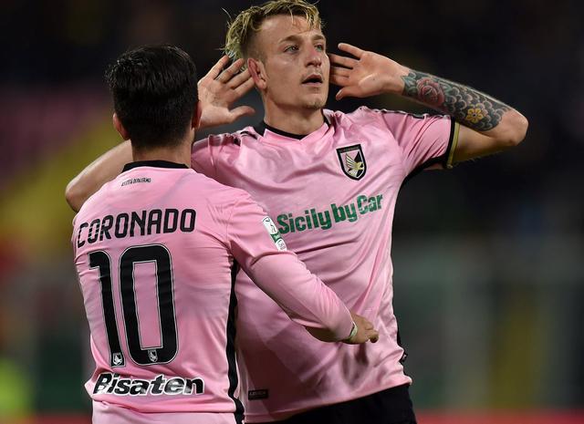 L'esultanza del Palermo, foto: Fonte Web