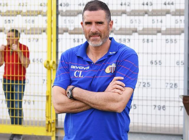 Il tecnico Cristiano Lucarelli, foto: Sandro Veglia