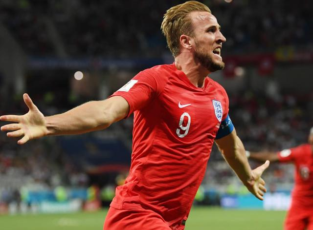 L'esultanza di Harry Kane dopo la rete alla Tunisia, foto: Fifa.com